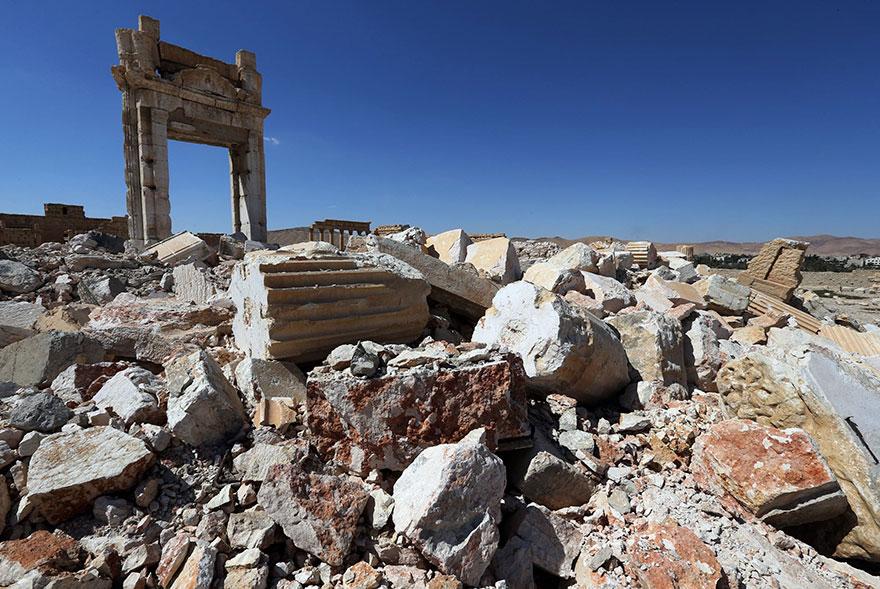 El antes y el después de importantes monumentos de Siria destruidos por ISIS cella