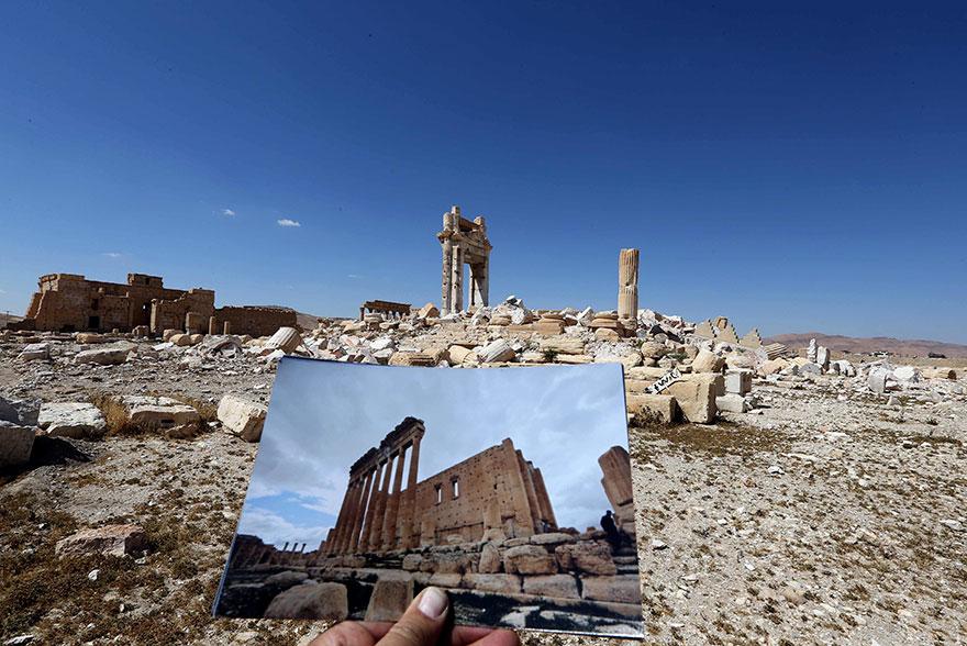 El antes y el después de importantes monumentos de Siria destruidos por ISIS templo de bel 2