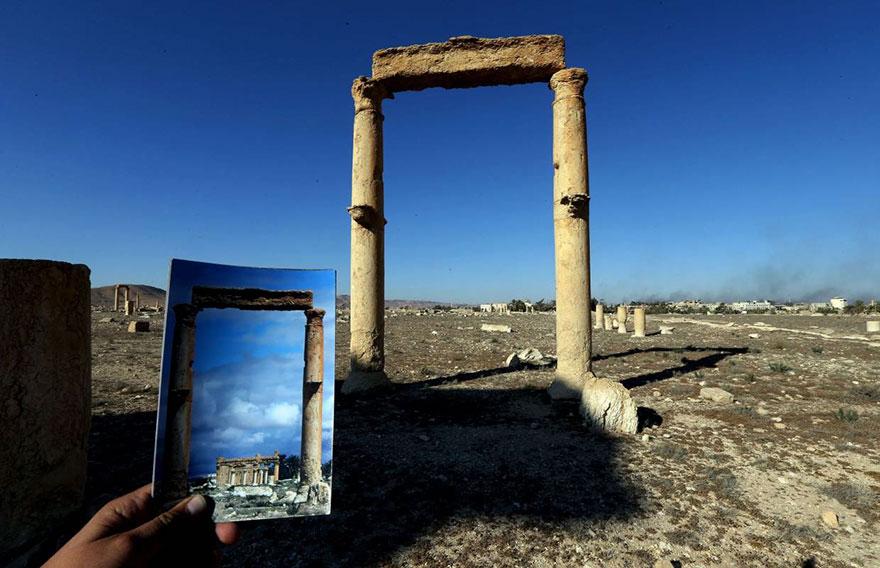 El antes y el después de importantes monumentos de Siria destruidos por ISIS templo de bel 3