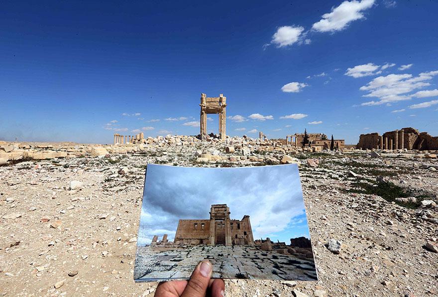 El antes y el después de importantes monumentos de Siria destruidos por ISIS templo de bel