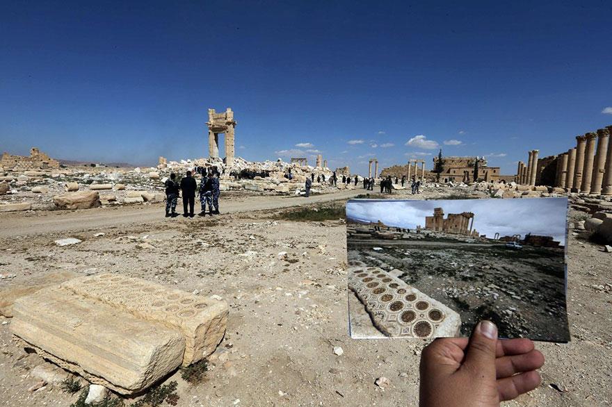 El antes y el después de importantes monumentos de Siria destruidos por ISIS templos