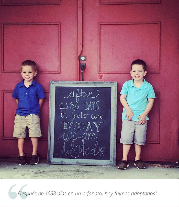 Estos adorables niños tienen una muy buena que dar. Fueron adoptados 10