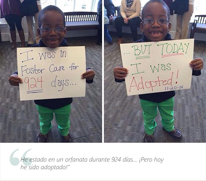 Estos adorables niños tienen una muy buena que dar. Fueron adoptados 12
