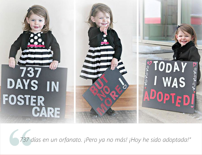 Estos adorables niños tienen una muy buena que dar. Fueron adoptados 14