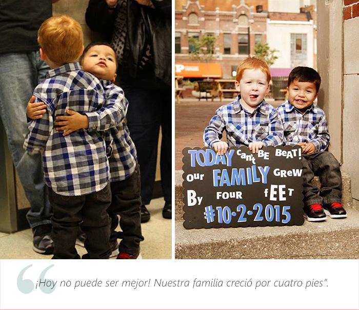 Estos adorables niños tienen una muy buena que dar. Fueron adoptados 18