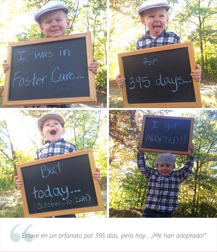 Estos adorables niños tienen una muy buena que dar. Fueron adoptados 20