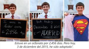 Estos adorables niños tienen una muy buena noticia que dar. ¡Fueron adoptados!