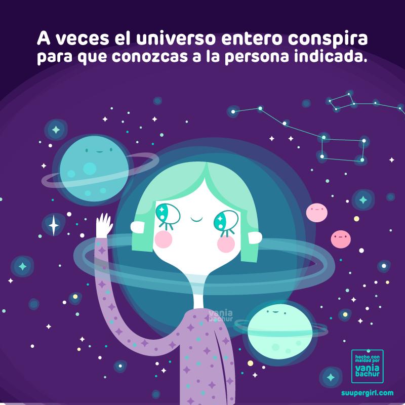 Ilustraciones de una super chica con mucho que contar universo