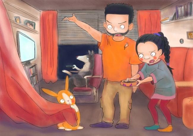 Ilustraciones retratan cómo es vivir con una persona creativa 3