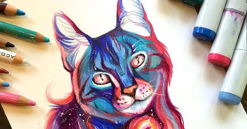 Las Artísticas Ilustraciones De Animales Hechas Con
