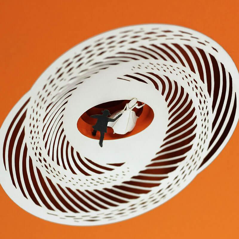 Maquetas hechas de papel recrean icónicas escenas de películas 7