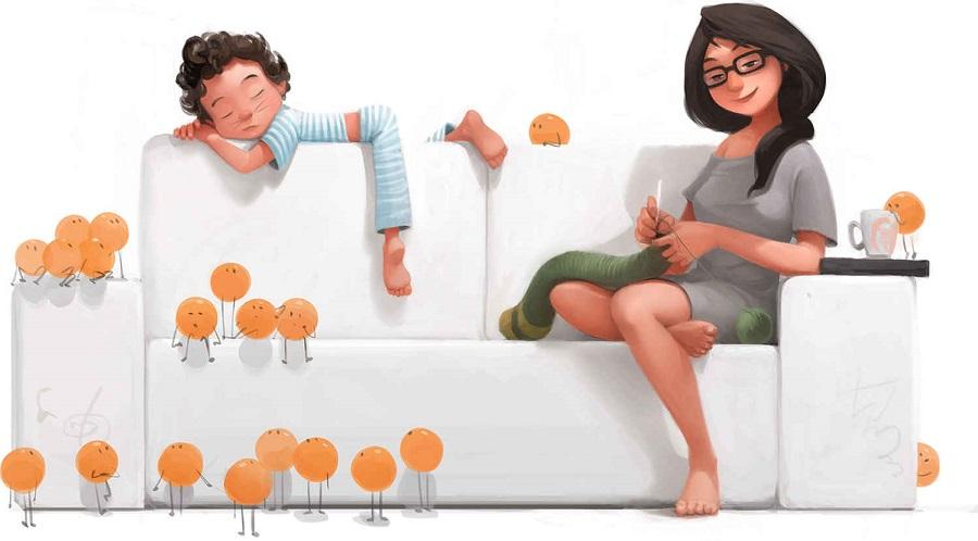 No hay nada mejor que ser padres y estas ilustraciones lo demostrarán 08