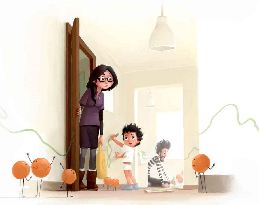 No hay nada mejor que ser padres y estas ilustraciones lo demostrarán 09