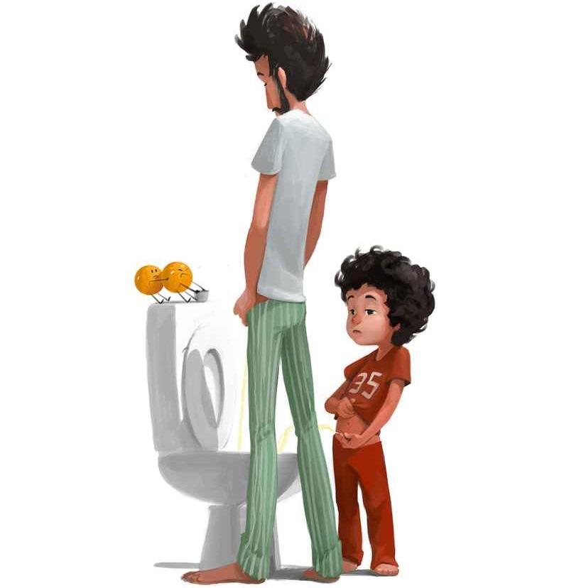 No hay nada mejor que ser padres y estas ilustraciones lo demostrarán 22