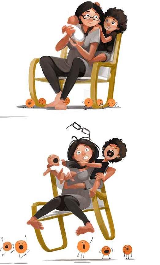 No hay nada mejor que ser padres y estas ilustraciones lo demostrarán 27