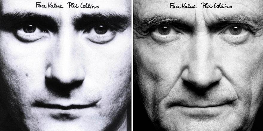Phil Collins recrea todas las portadas de sus discos para su nuevo proyecto 001