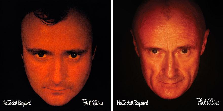 Phil Collins recrea todas las portadas de sus discos para su nuevo proyecto 003