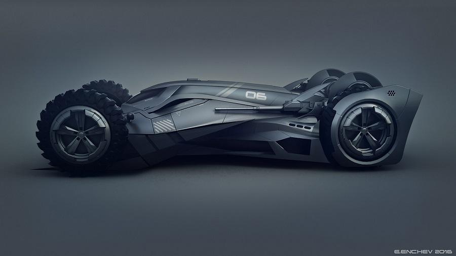 Si Batman incursionara en el mundo de la F1, probablemente este sería su carro 1b