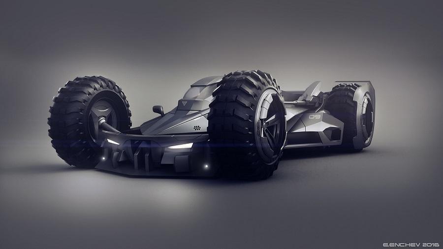 Si Batman incursionara en el mundo de la F1, probablemente este sería su carro 1d