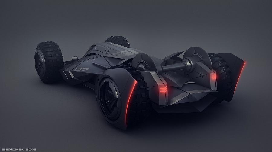 Si Batman incursionara en el mundo de la F1, probablemente este sería su carro 1g