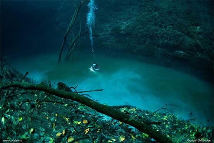 Surreal río bajo el mar 2