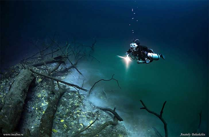 Surreal río bajo el mar 20