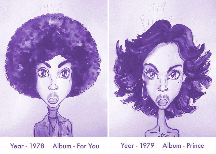 Todos los peinados de Prince, de 1978 hasta el 2013 01