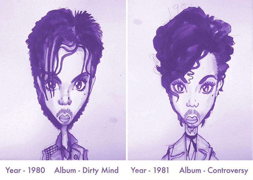 Todos los peinados de Prince, de 1978 hasta el 2013 02