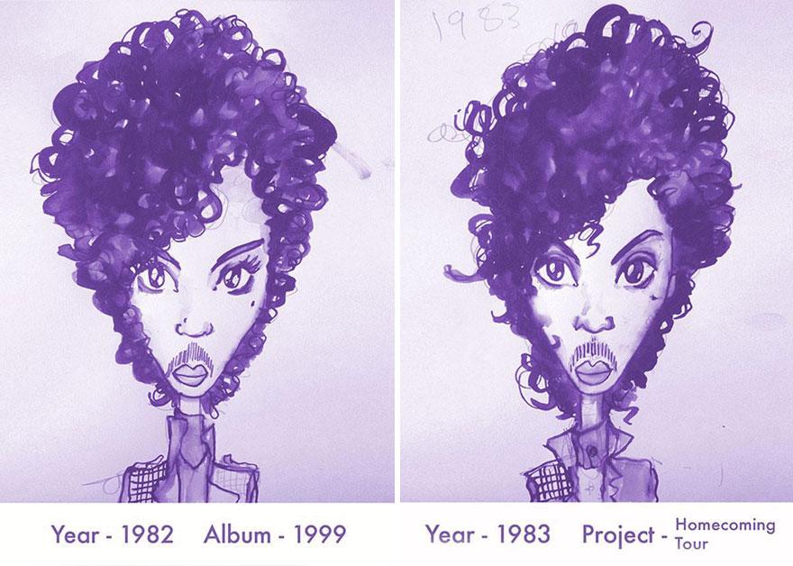 Todos los peinados de Prince, de 1978 hasta el 2013 03