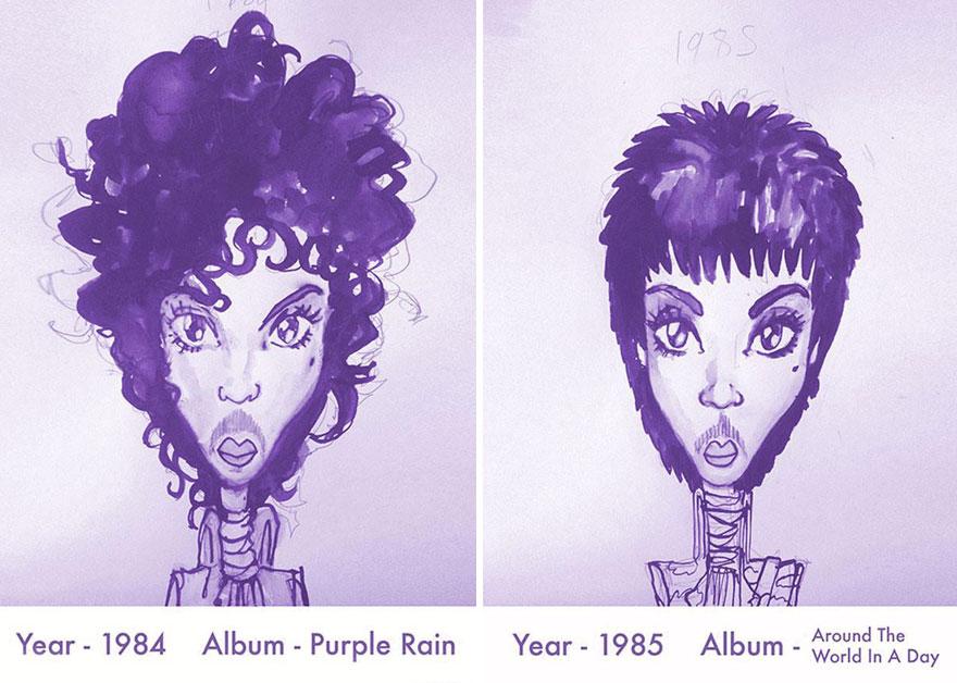 Todos los peinados de Prince, de 1978 hasta el 2013 04