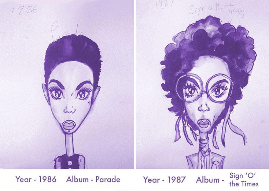 Todos los peinados de Prince, de 1978 hasta el 2013 05
