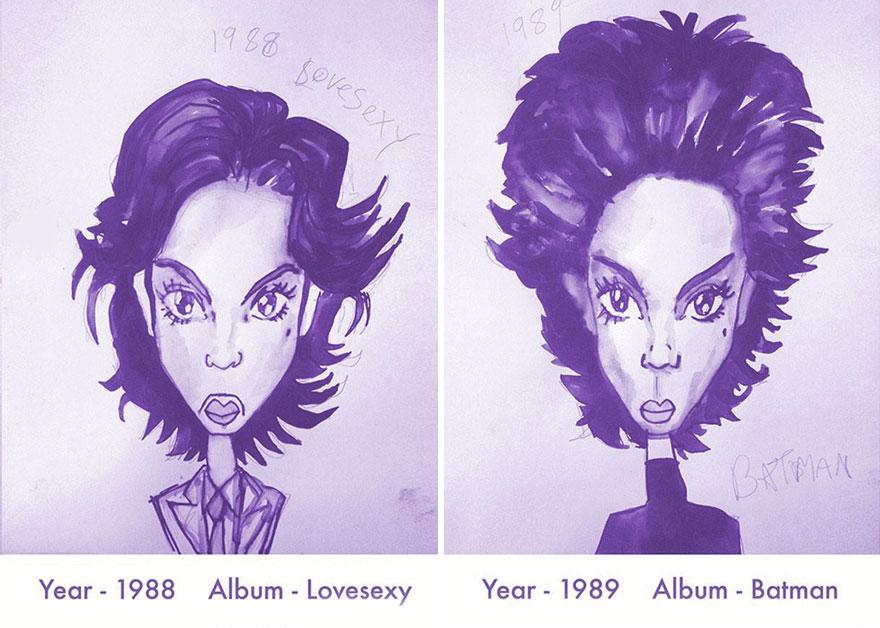 Todos los peinados de Prince, de 1978 hasta el 2013 06