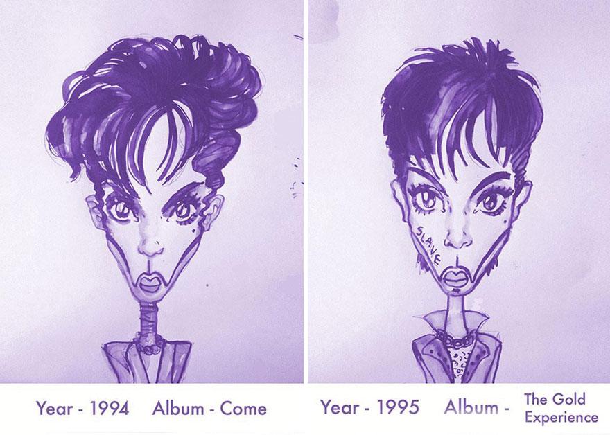 Todos los peinados de Prince, de 1978 hasta el 2013 09