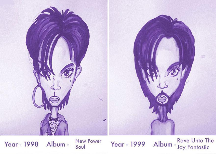 Todos los peinados de Prince, de 1978 hasta el 2013 11