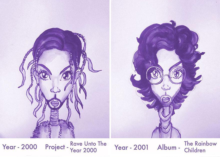 Todos los peinados de Prince, de 1978 hasta el 2013 12