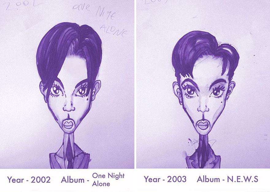 Todos los peinados de Prince, de 1978 hasta el 2013 13