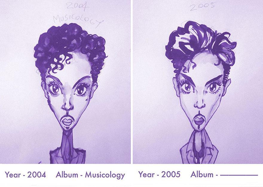 Todos los peinados de Prince, de 1978 hasta el 2013 14