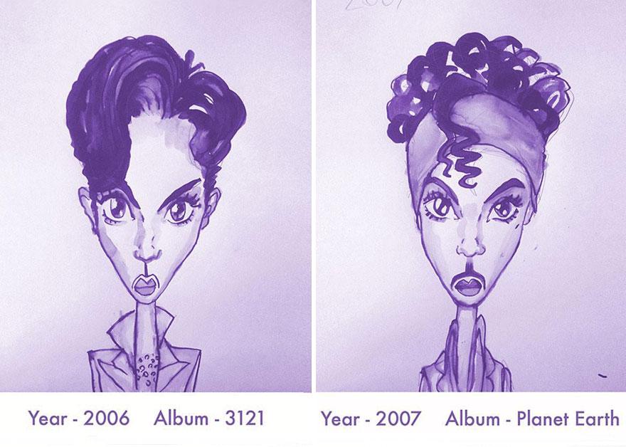 Todos los peinados de Prince, de 1978 hasta el 2013 15