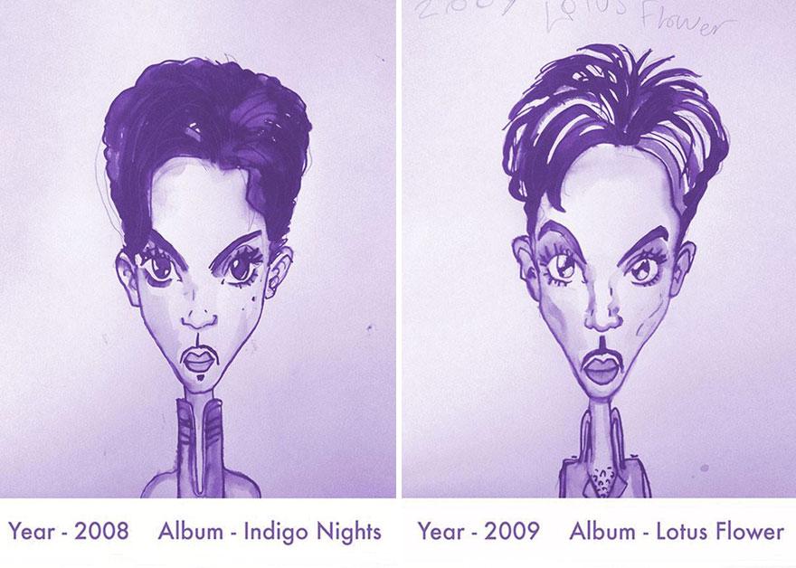 Todos los peinados de Prince, de 1978 hasta el 2013 16