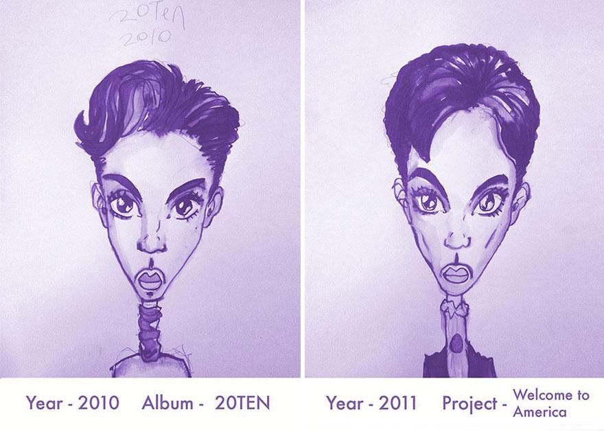 Todos los peinados de Prince, de 1978 hasta el 2013 17