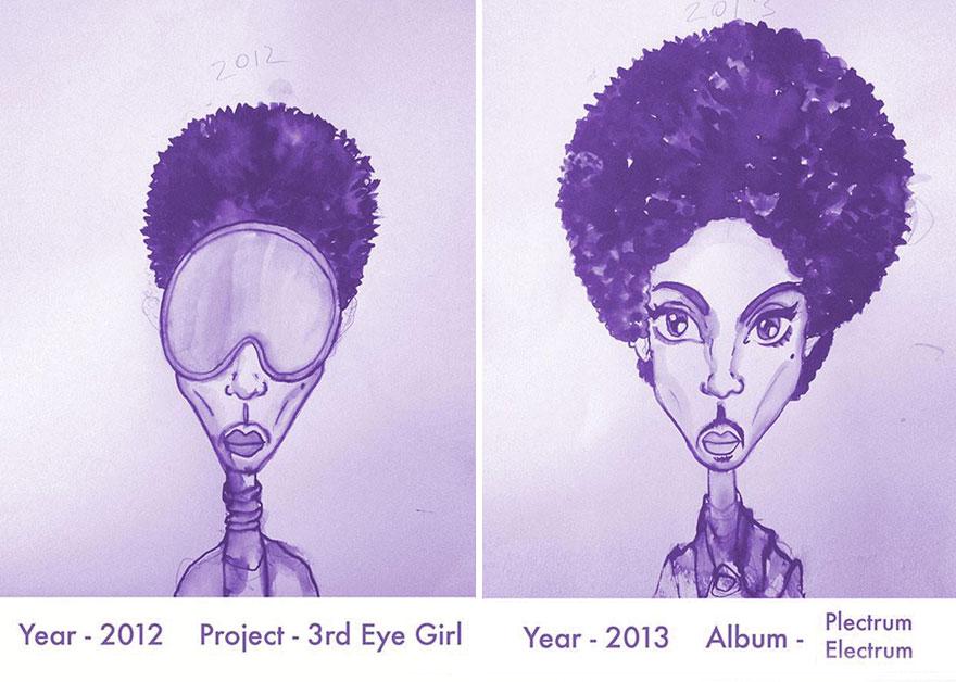 Todos los peinados de Prince, de 1978 hasta el 2013 18