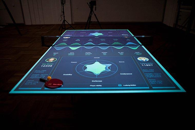 Una mesa de ping pong interactiva que enseña cómo mejorar tus habilidades 01