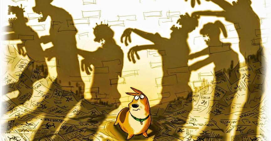 Perro busca a su amo en medio del apocalipsis zombie en corto animado
