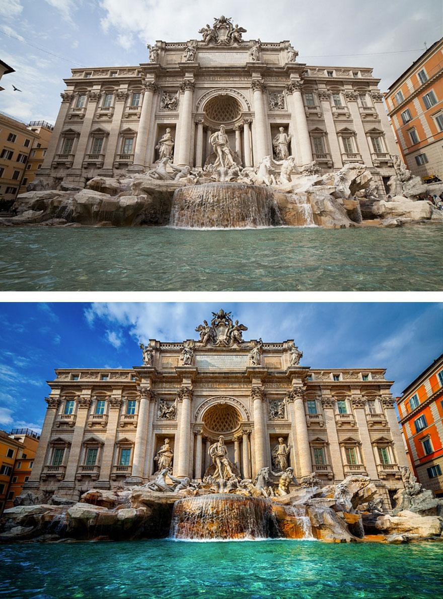 el antes y el después de fotos editadas  10