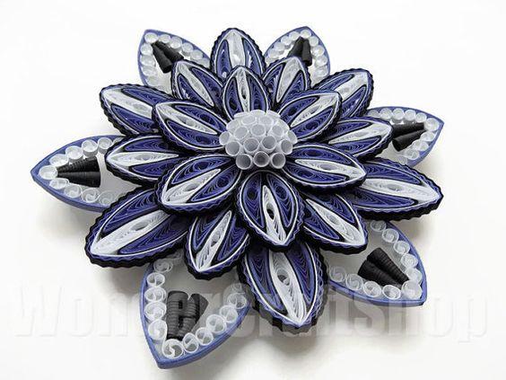hermosas esculturas de flores hechas de papel5