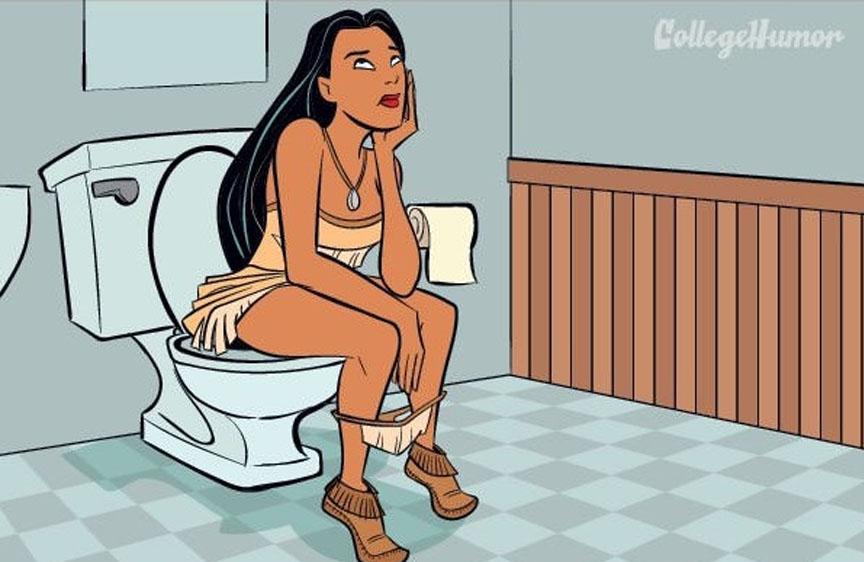 quien dijo que las princesas de disney no iban al baño poca