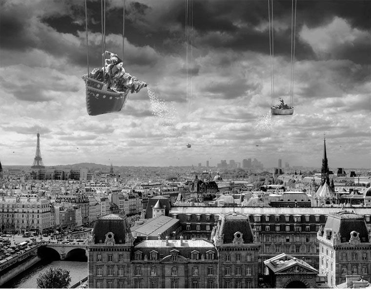 surrealista fotomontaje analógico 15