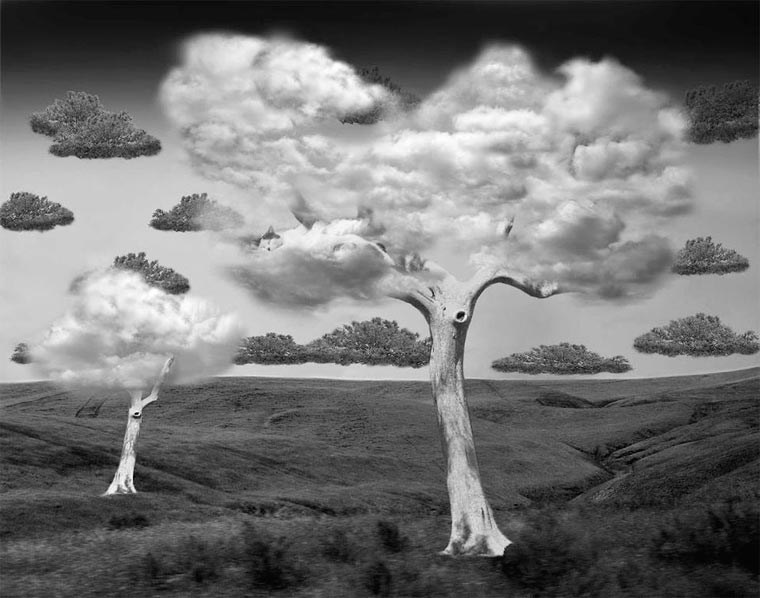 surrealista fotomontaje analógico 16