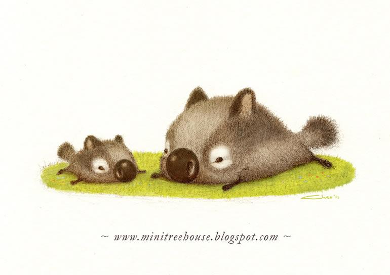 tiernas y adorables ilustraciones 10