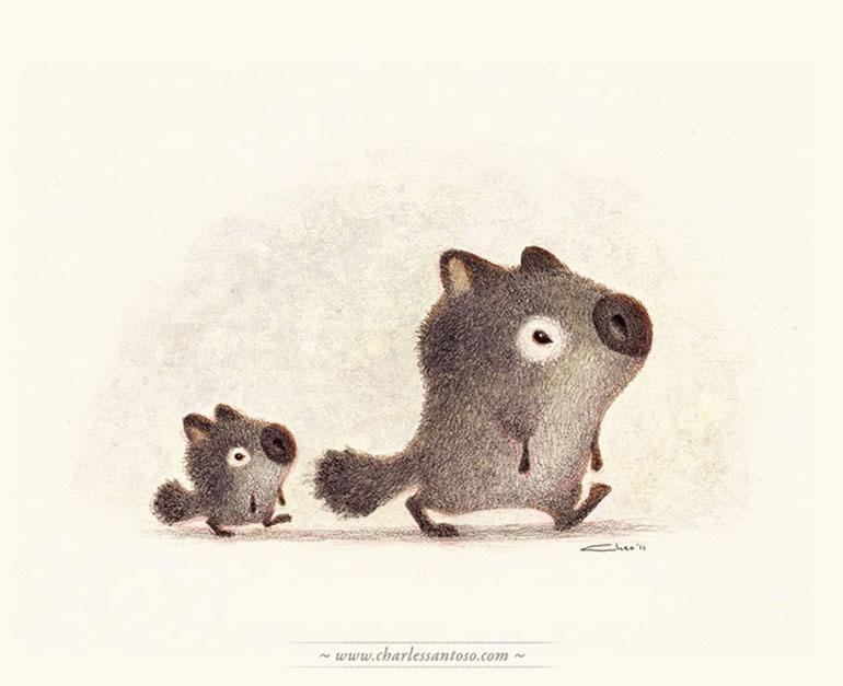 tiernas y adorables ilustraciones 2